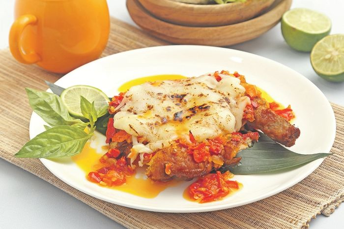 resep ayam geprek crispy sambal bawang keju mozzarella