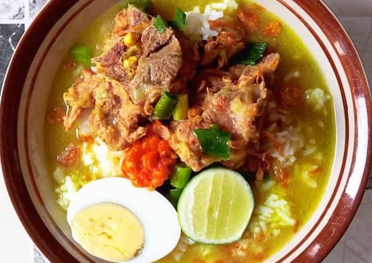 resep soto daging sapi bening madura