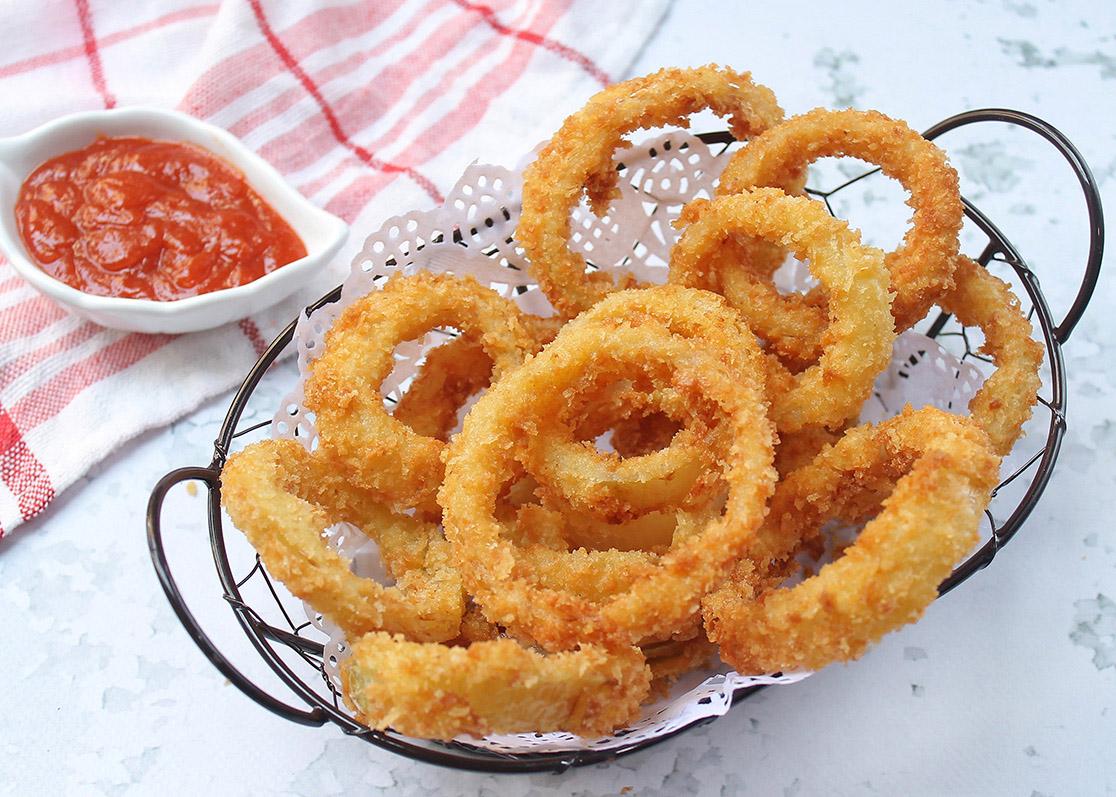 ara membuat onion ring