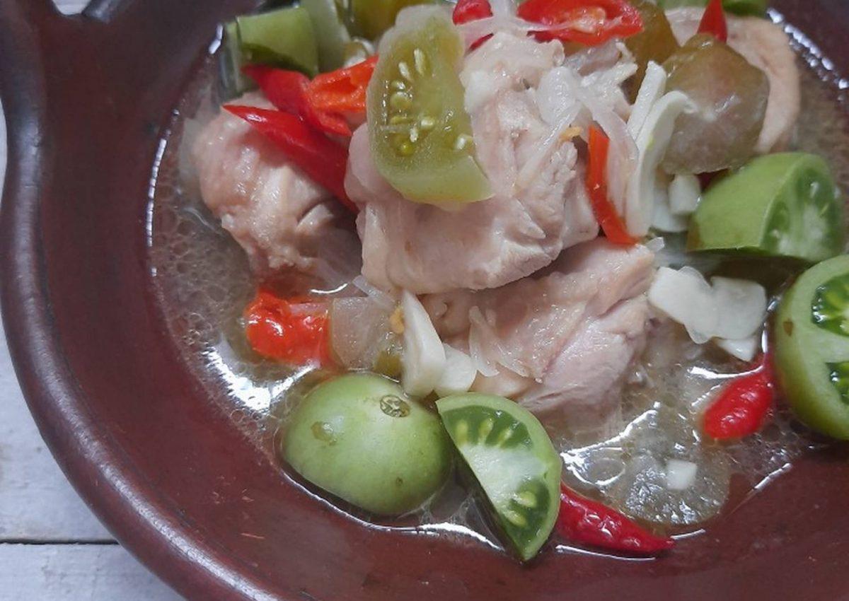Bumbu garang asem ayam tanpa santan
